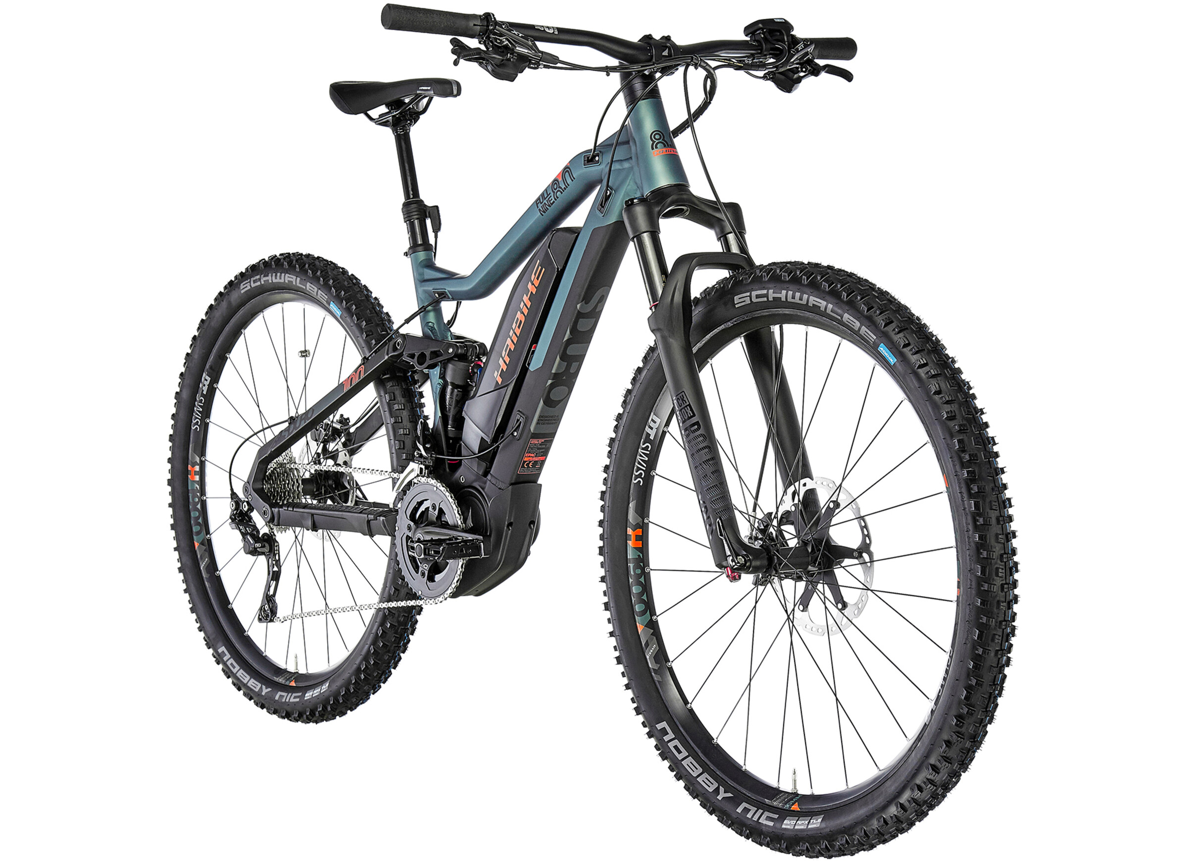 e2270da3f7f HAIBIKE SDURO FullNine 8.0 E-MTB Full Suspension black/olive at ...